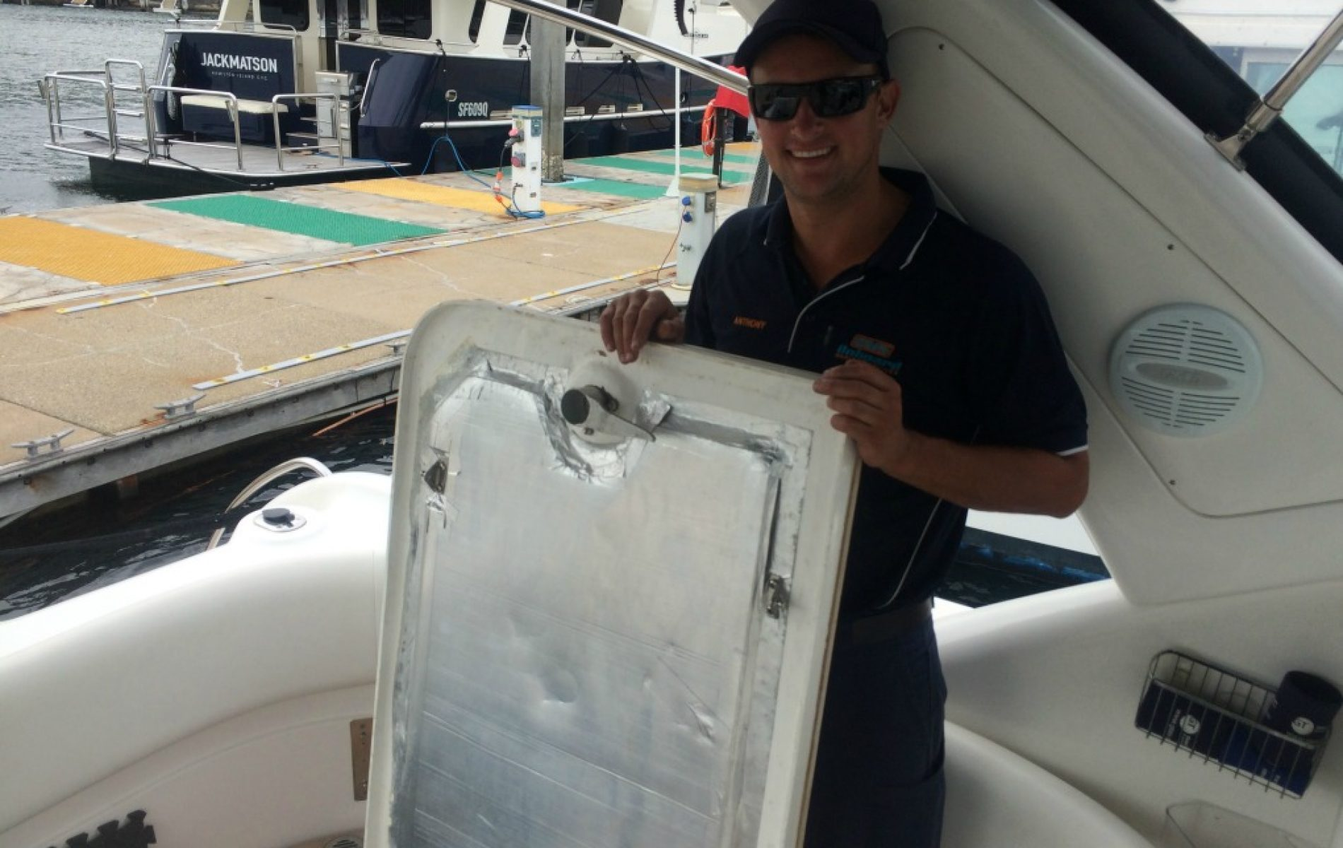 Volvo Penta Twin D4-260 Sunrunner 3700 annual service | Onboard Marine Services